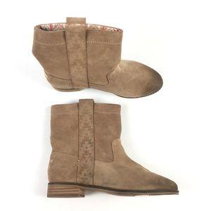 Toms Tan Suede Laurel Boot X9515868
